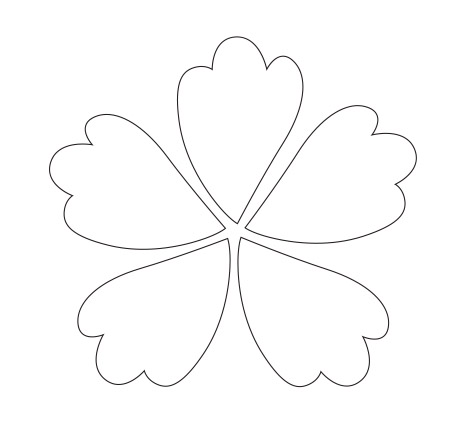 Flower petals clipart clipground for Flower template 5 petals