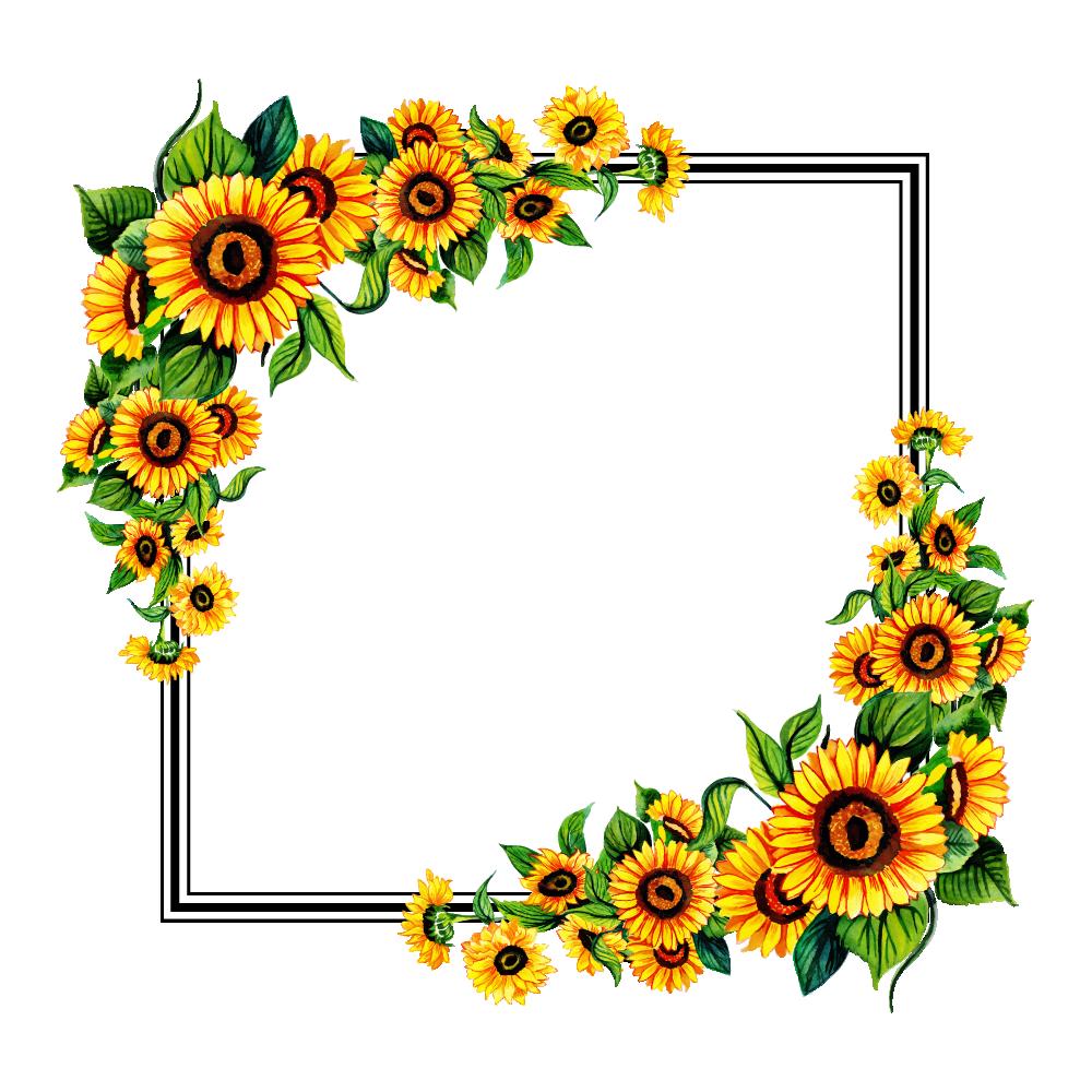 Free PNG Floral Frame.