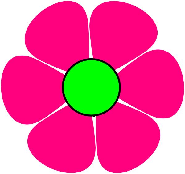 Pink Flower #2 Clip Art at Clker.com.