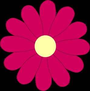 Flower Pink clip art.