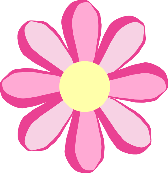 Clipart Pink Flowers.