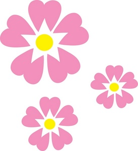 Pink Flowers Clipart.