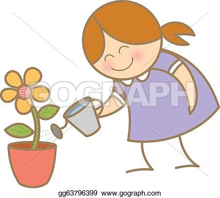Watering Plant Clip Art.