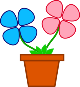 Flower Pot Clipart Black And White.