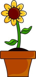 Daisy Flower Pot Clipart.
