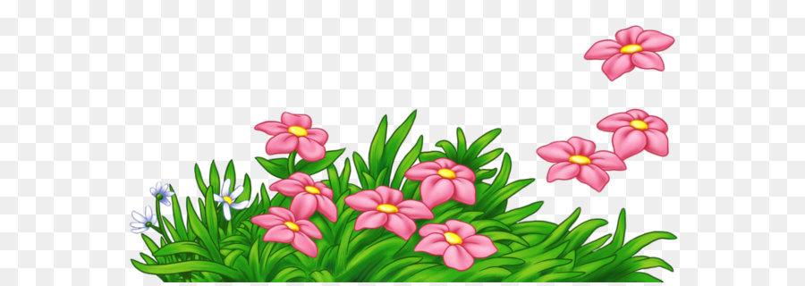 Pink Flower Cartoon.
