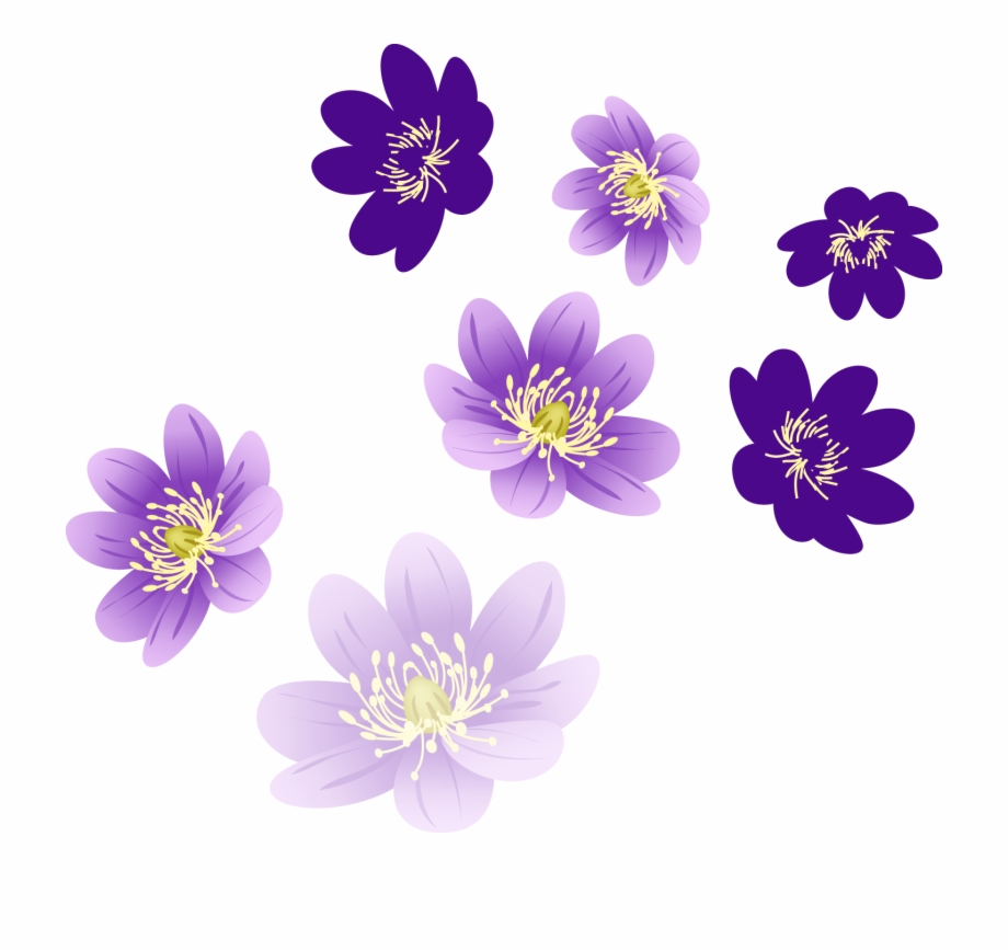 Purple Flowers For Photoshop Free PNG Images & Clipart Download.
