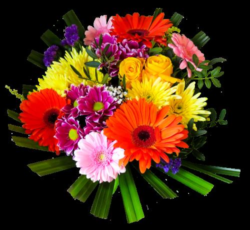 Flower Bouquet PNG Transparent Image.