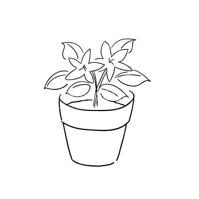 Flower pot clipart black and white 8 » Clipart Station.