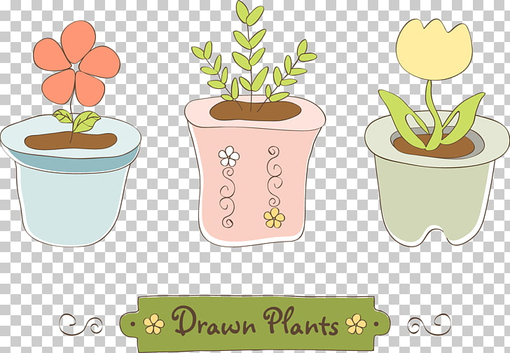 Flowerpot , Creative potted free s PNG clipart.