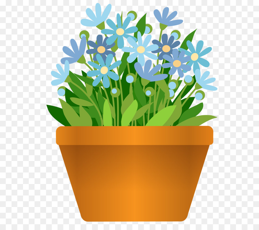 Flower Pot Drawing png download.