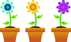 Free clipart flower pot.