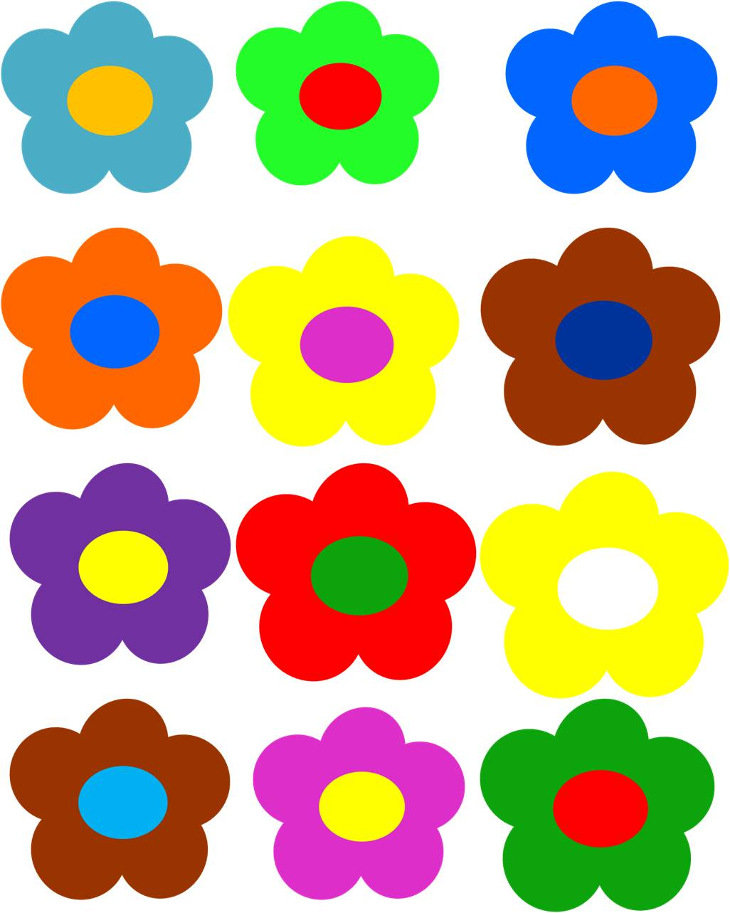 Flower Power Clip Art.