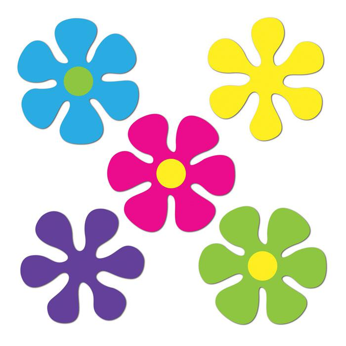 60s flower power clipart.
