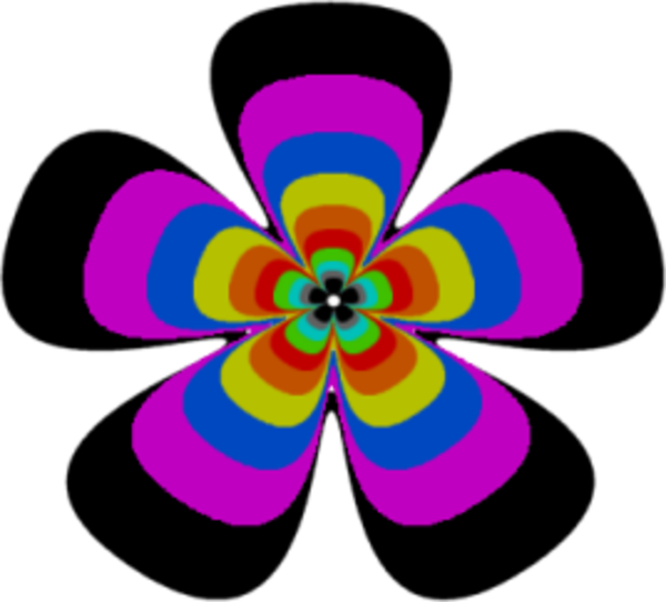 Hippie Flower Power Clipart.