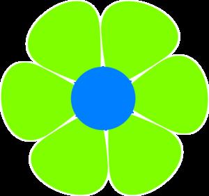 Flower power border clipart.