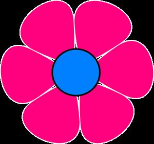 Blue Pink Flower Power PNG, SVG Clip art for Web.