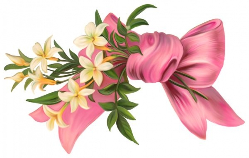pink bow flowers clipart ribbon bow pinterest pink.