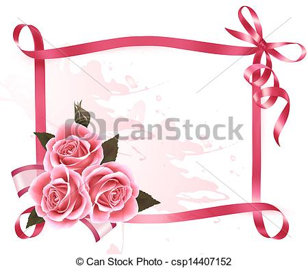 Clipart Vector of Holiday background. Colorful flowers with pink.
