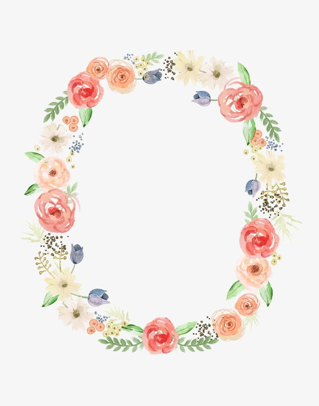 Flower ring PNG clipart.