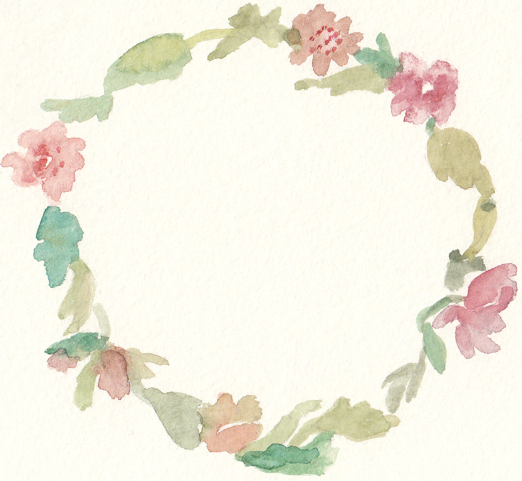 Free Watercolor Floral Wreath Clip Art.