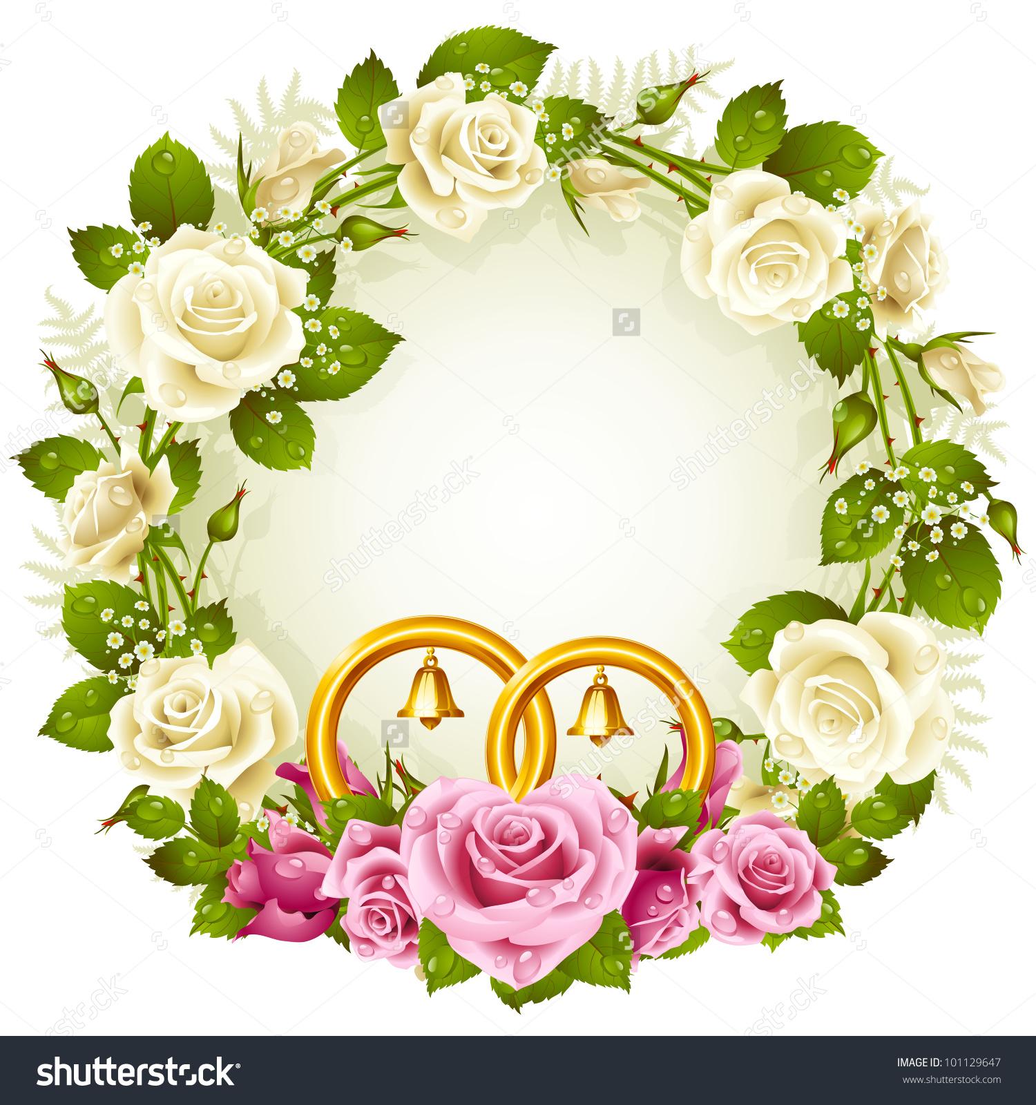 Flower rings clipart clipground flower frame vector white pink rose stock vector 101129647 mightylinksfo