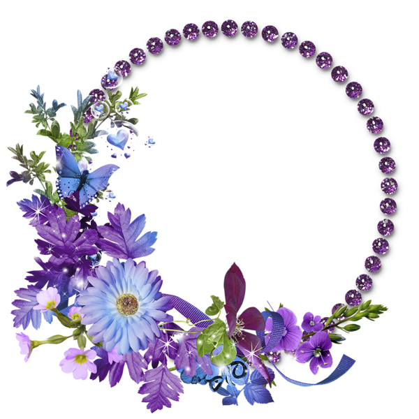 Free Flowers Graphic Frames.
