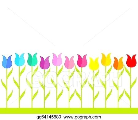 flower row clipart.