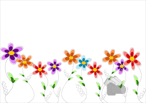 Row Of Flowers Clipart.