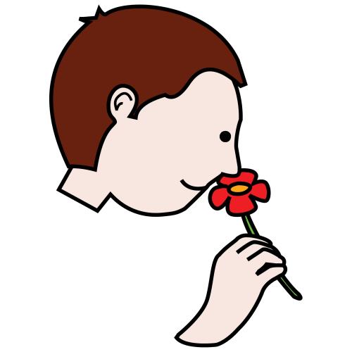 Clip Art Smell Flower Clipart.