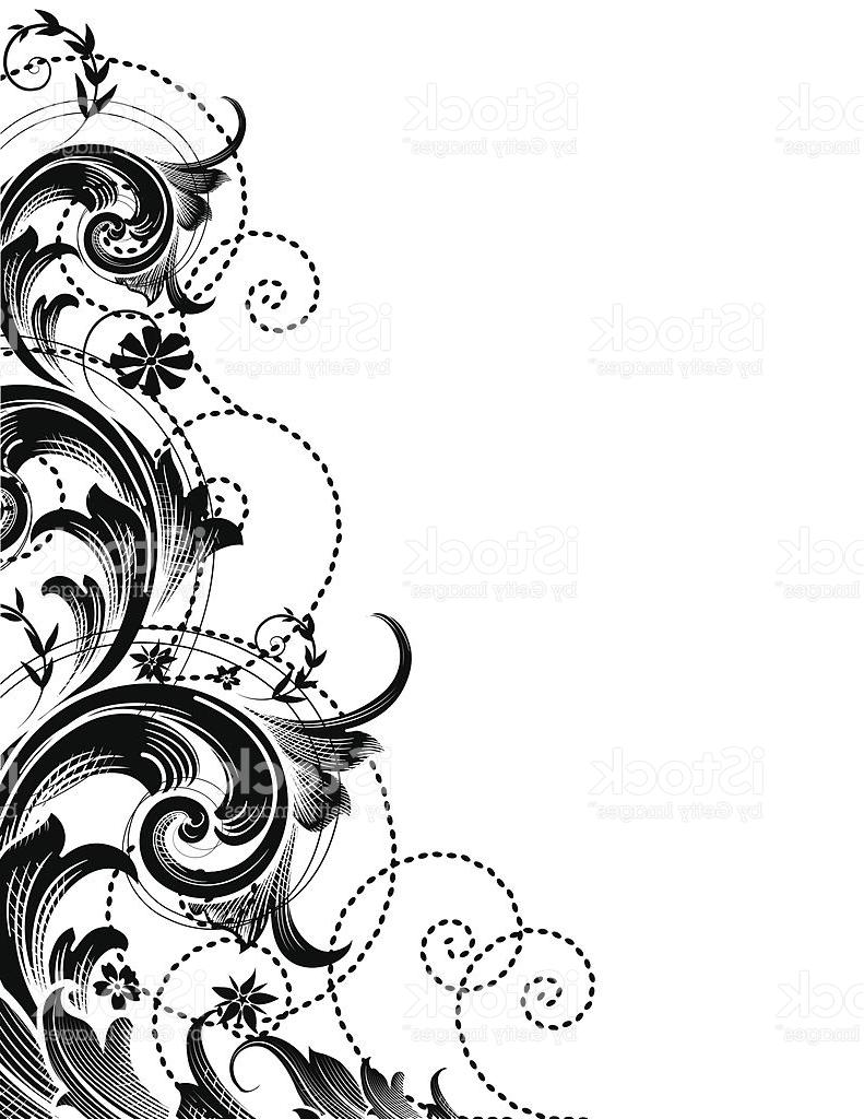 Top Flower Scroll Vector Design » Free Vector Art, Images, Graphics.