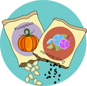 Flower seeds clipart.