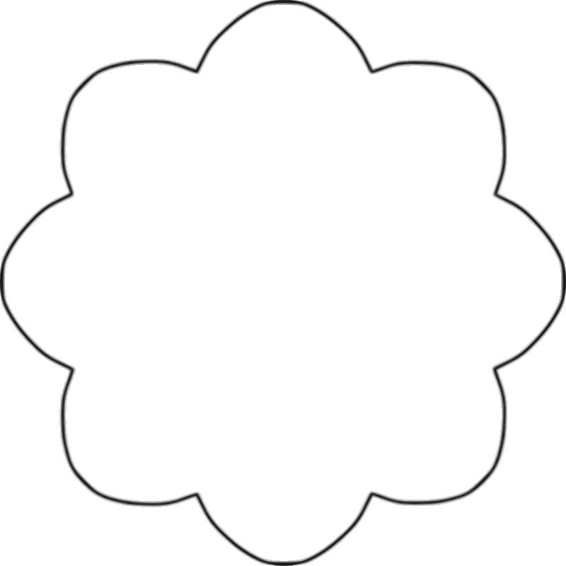 Flower shape clip art.