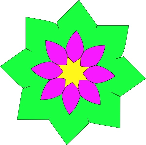 Geometric Flower Shape clip art Free vector in Open office drawing.