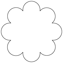 Flower Shape Clipart Clipground