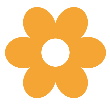 Flower shape clipart.
