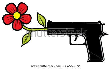 The Gun Shoots Flowers Stock Photos, Royalty.