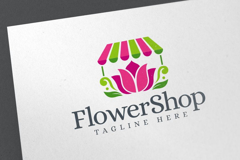 Flower Shop Logo Template.