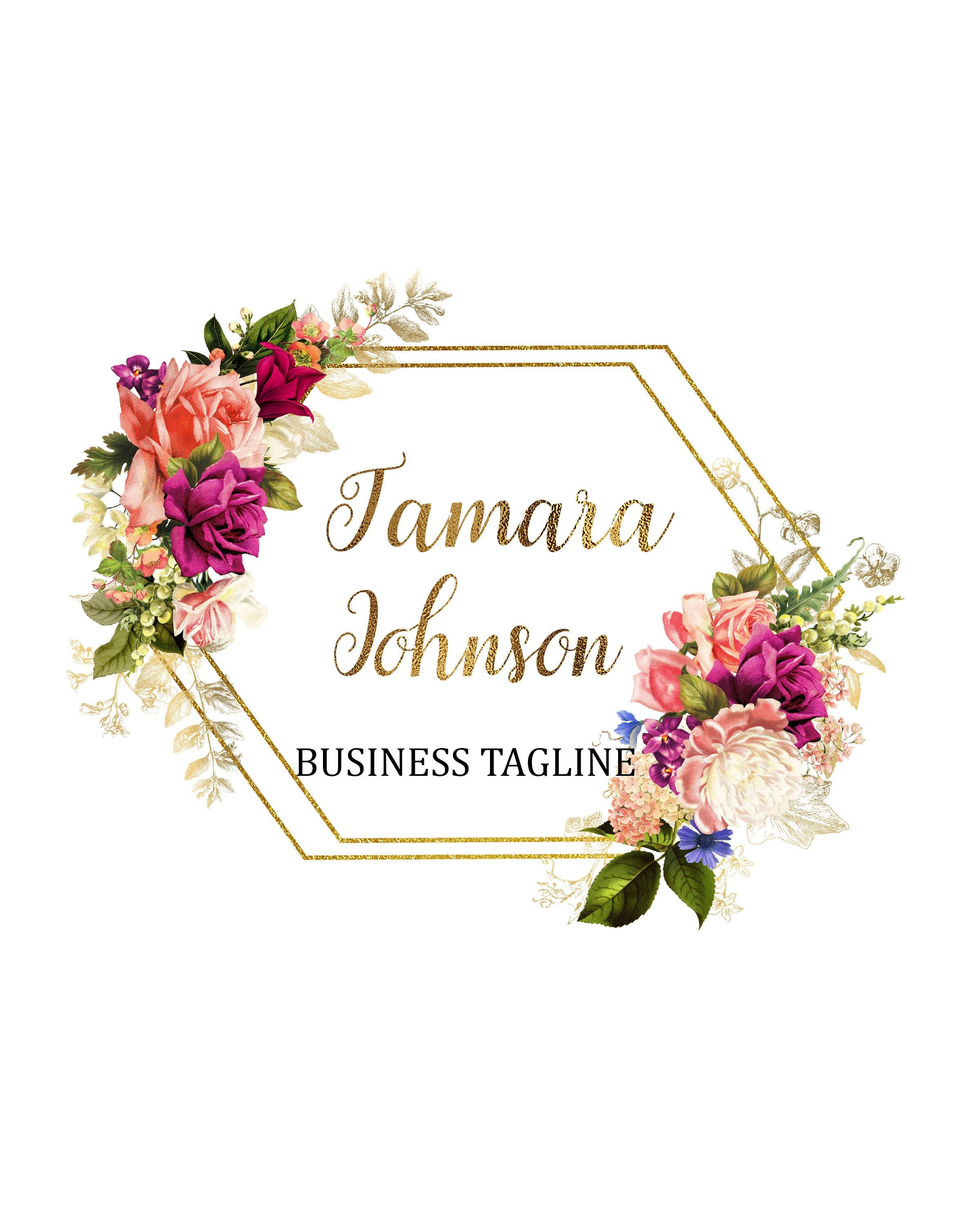 Flower Shop Logo, Florist Logo, Wedding Planner Logo.