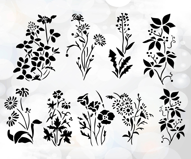 Hand drawn flower pack.