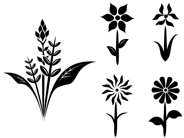 Free Flower Plant Vector Silhouettes Free Vector.