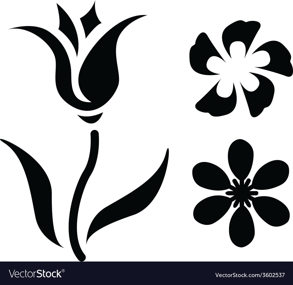 Flower Silhouettes.