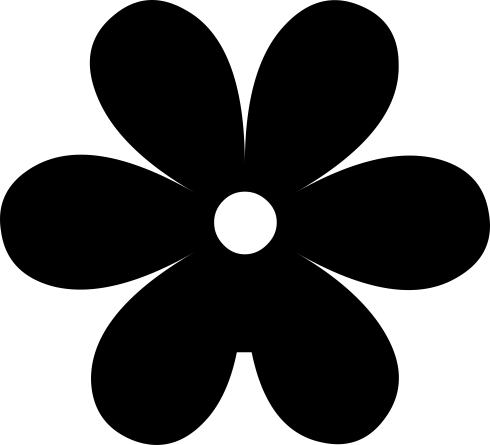 Flower Silhouette Svg Png Icon Free Download (#40055.