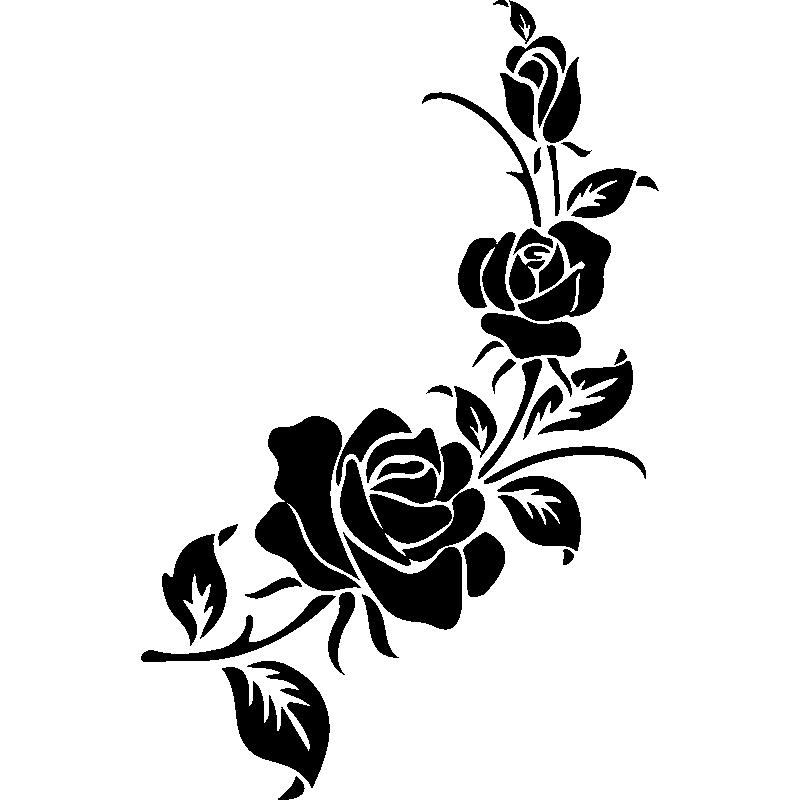 Floral design Silhouette Motif Pattern.