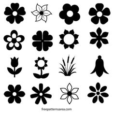 91 Best Flower silhouette images in 2017.