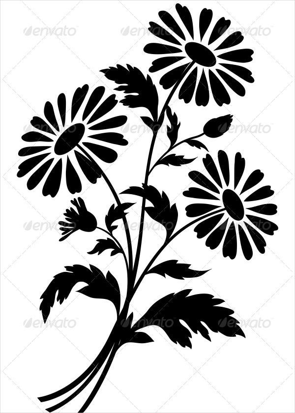 9+ Beautiful Flower Silhouettes.