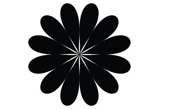 Free flower silhouette vector clip art.