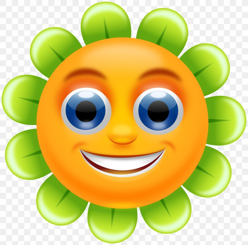 Smiley Flower Clip Art, PNG, 2400x2380px, Smiley, Cartoon.