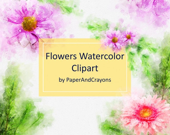 Spray Watercolor Clipart Set, Watercolor Flower Clipart, Wedding Clipart,  Watercolor Floral Clipart, Watercolor Wreath, Commercial Use, PNG.
