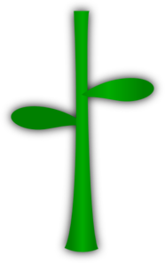 Flower Stem And Leaf Clipart.